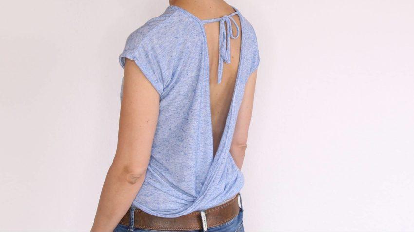 Tutorial – Shirt mit lockerem Rückenausschnitt