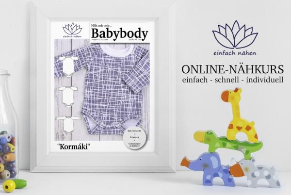 Onlinenähkurs Babybody Kormaki | einfach nähen lernen