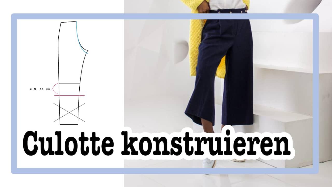 Trendige Culotte aus Hosengrundschnitt in nur 3 Schritten