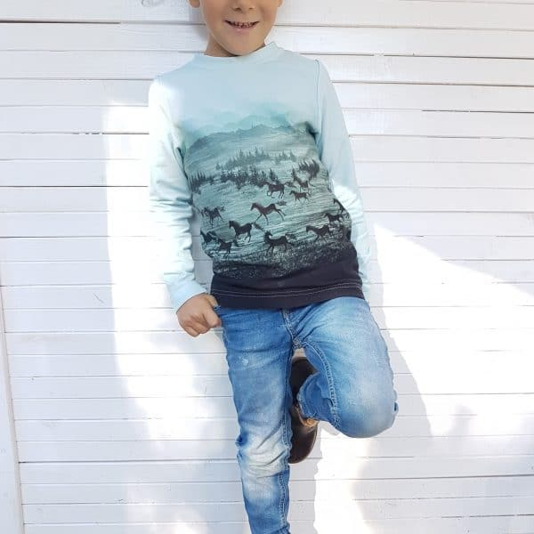 Basicshirt Fanéla Kids | einfach nähen lernen