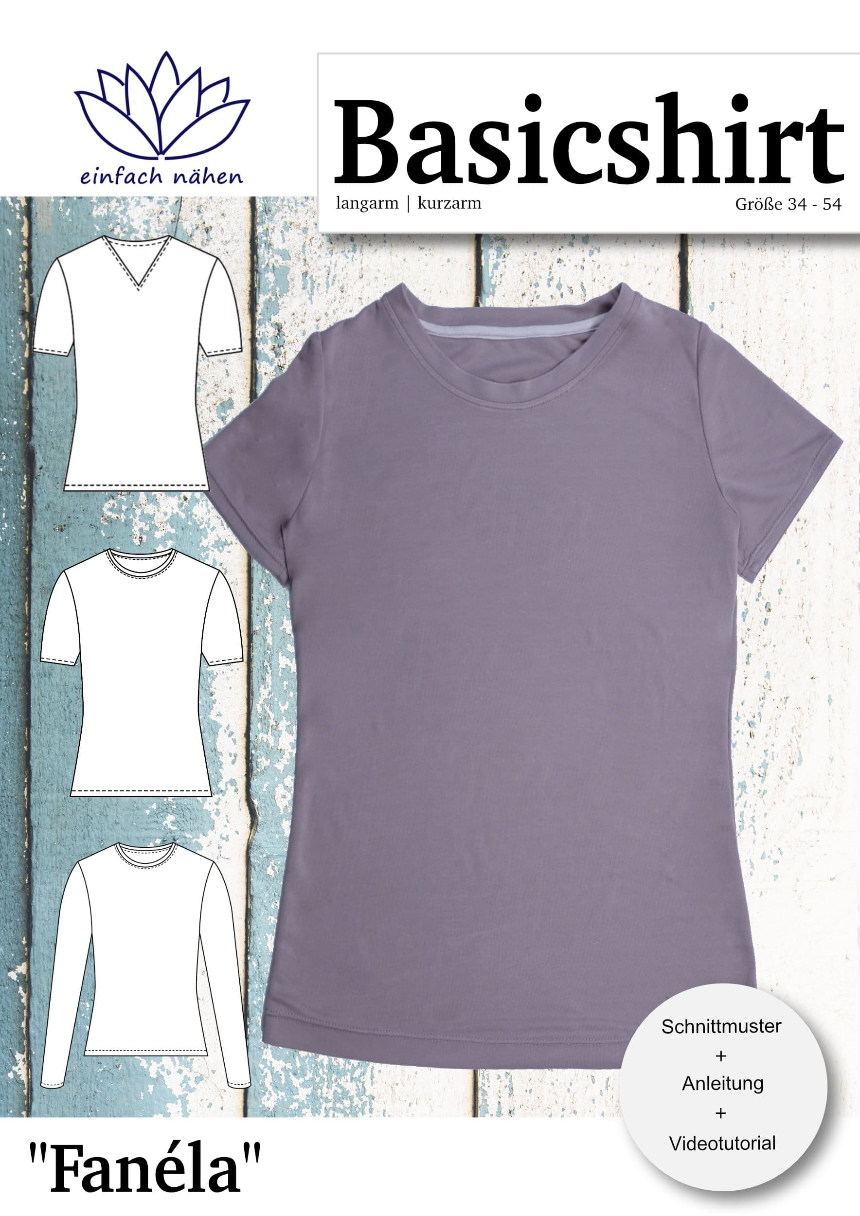 eBook Basicshirt Fanéla | einfach nähen lernen