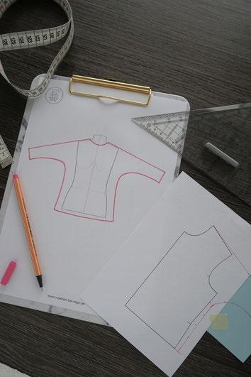 Dein Shirt dein Design Onlinenähkurs | einfach nähen lernen