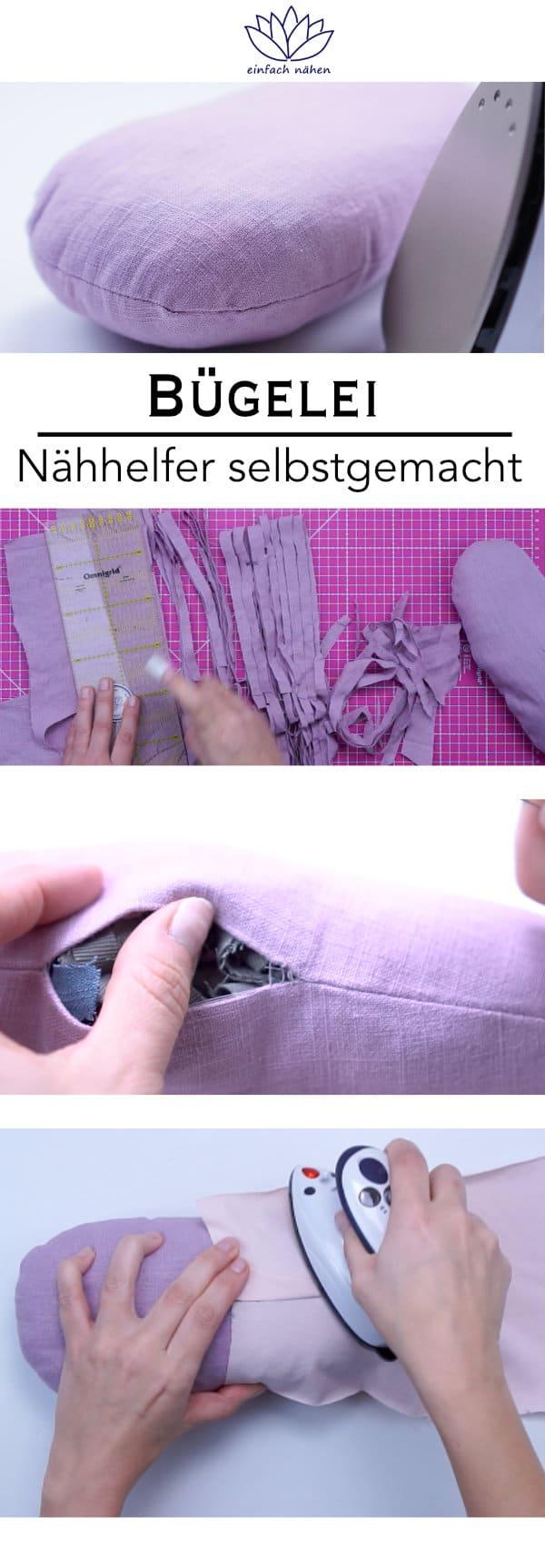 Bringe Nähte an Schultern, Armkugeln oder Abnähern mit einem selbstgenähten Bügelei in Form