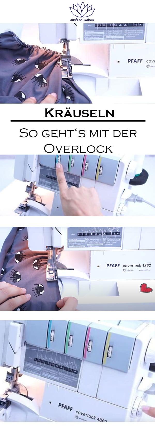 Kräuseln mit der Overlock | nähen lernen mit einfach nähen