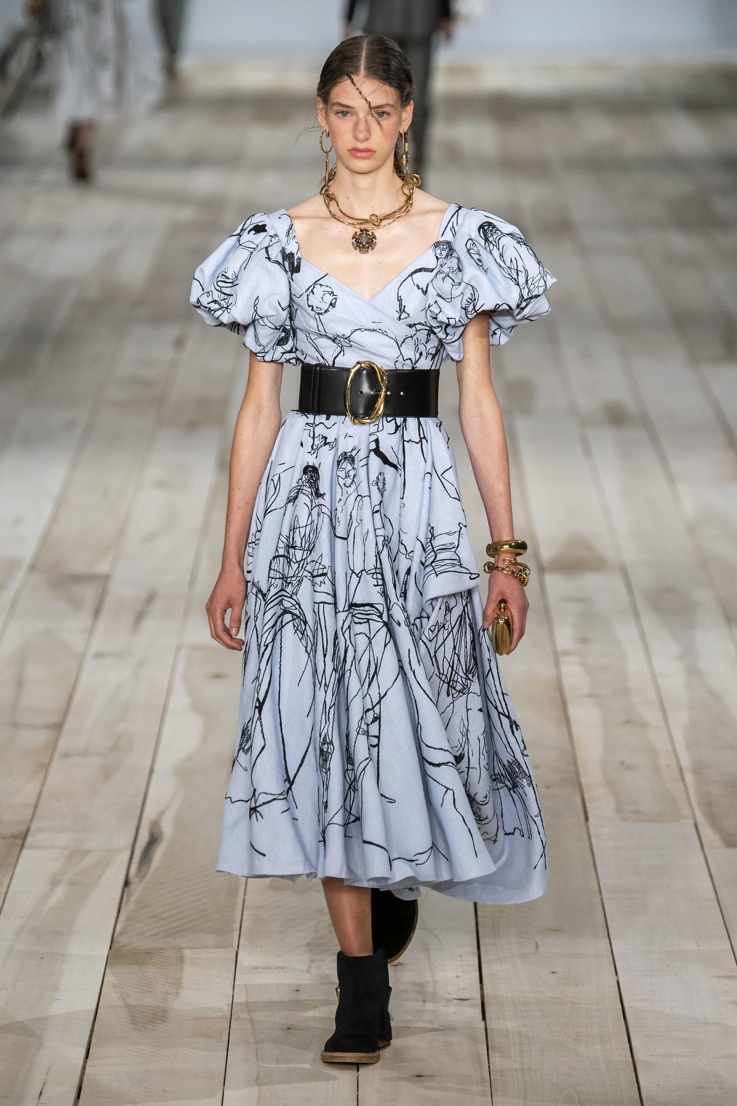 Puffärmel Kleid