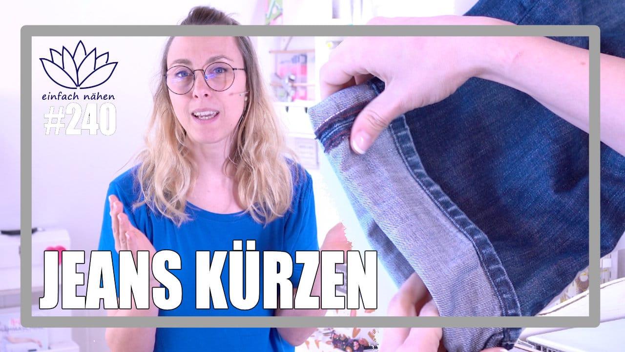 Jeanshose kürzen | einfach nähen lernen