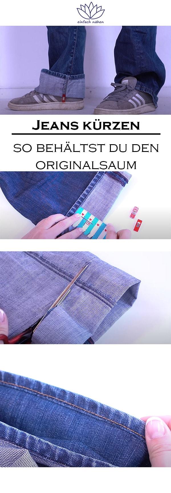 Jeans kürzen mit Originalsaum | einfach nähen lernen mit einfach nähen