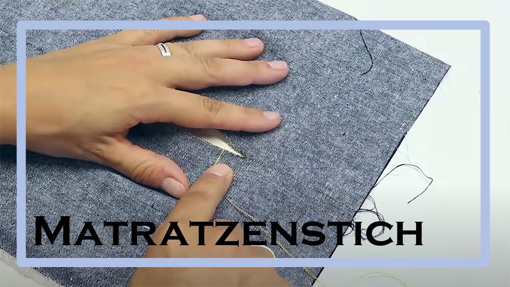 Matratzenstich | Leiterstich | Zauberstich | einfach nähen lernen mit einfach nähen