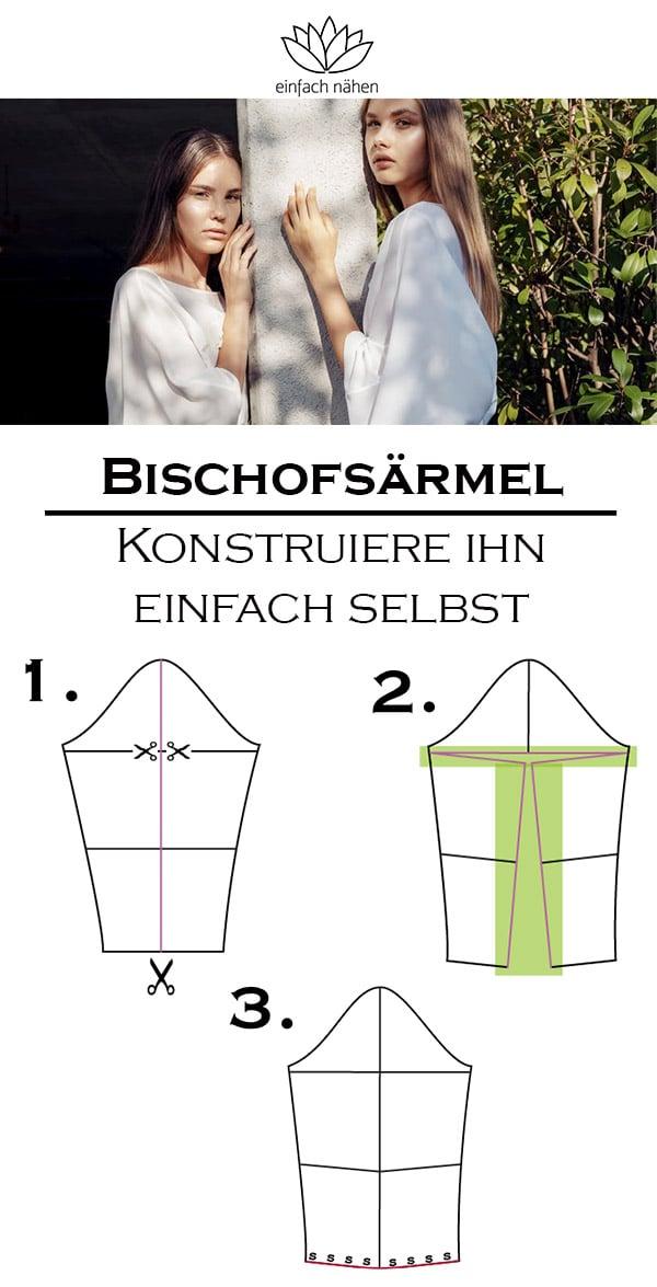 Bischofsärmel  | einfach nähen lernen mit einfach nähen