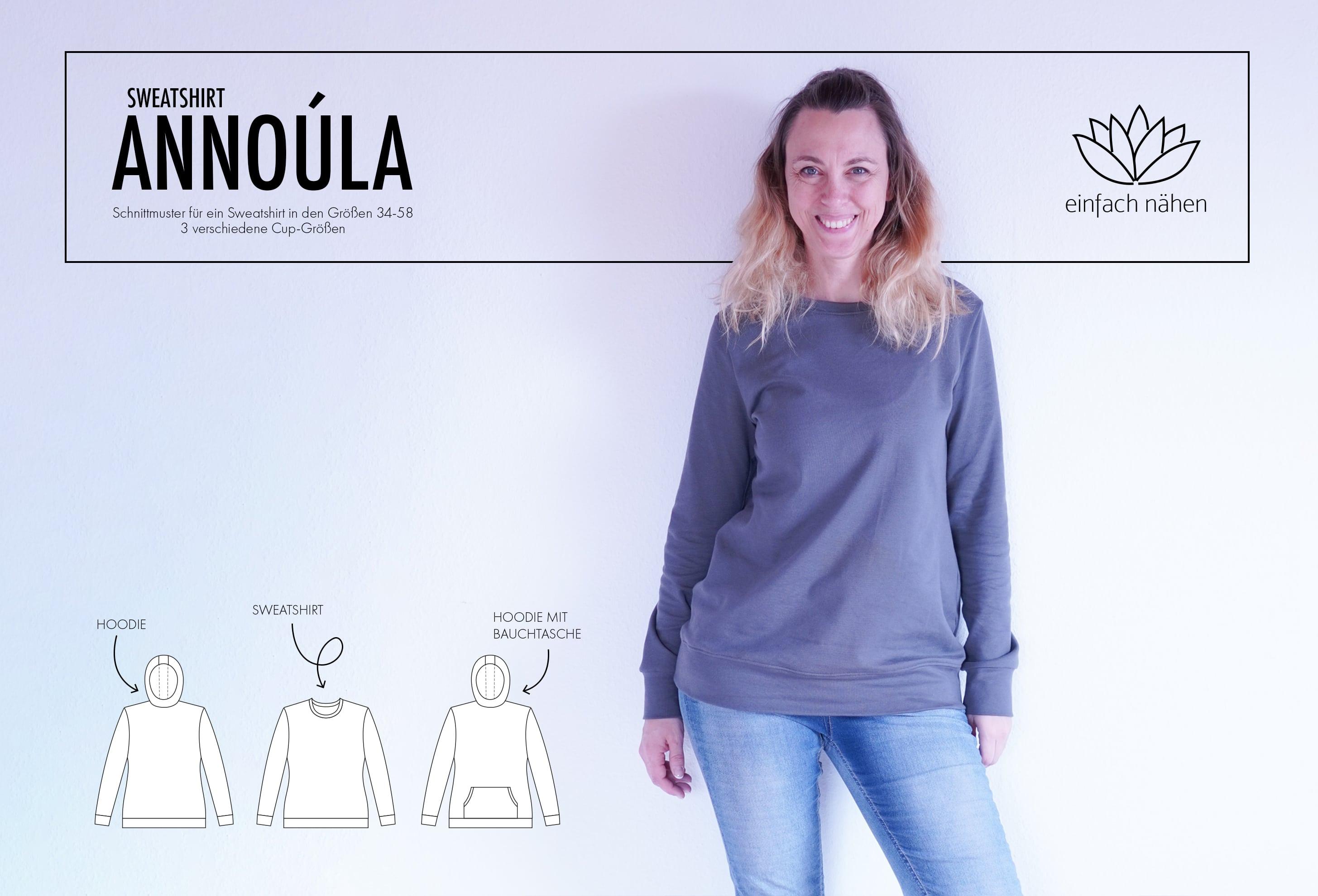 Sweatshirt Annoúla einfach nähen
