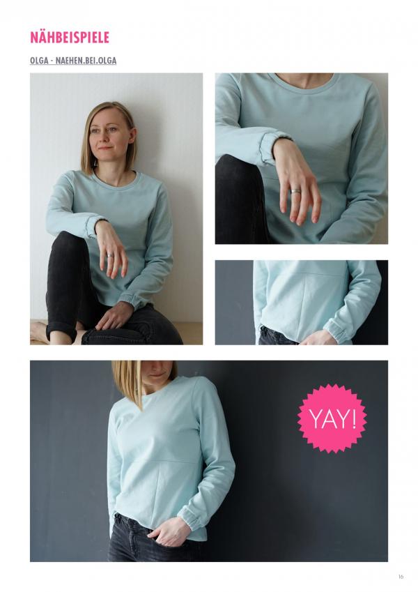 Sweatshirt Annoula einfach nähen lernen