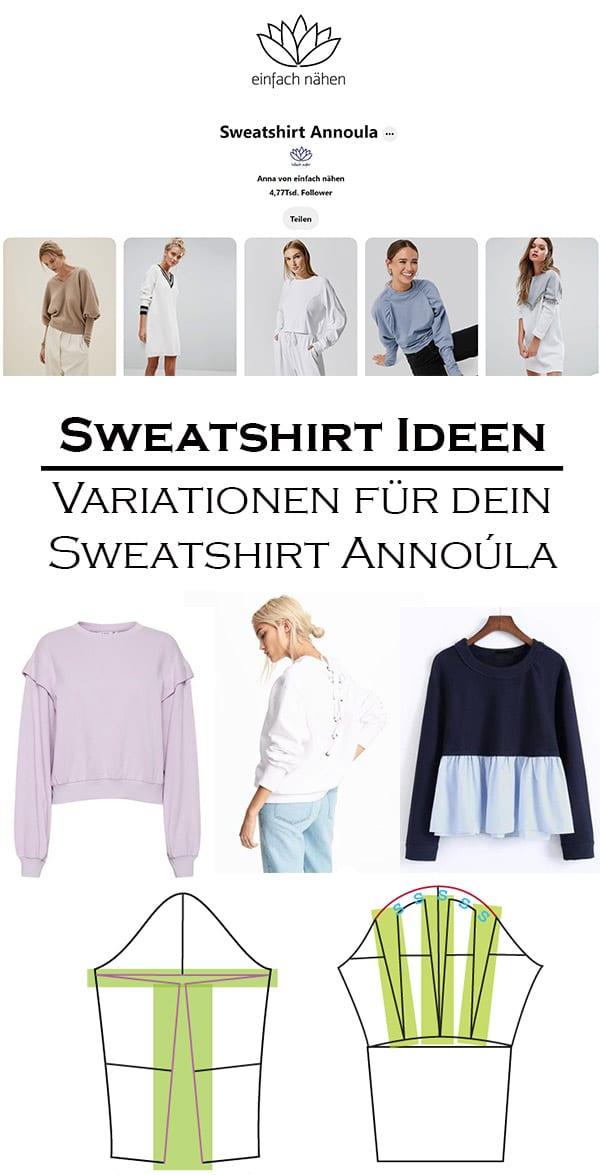 Sweatshirt Annoúla Ideen | einfach nähen lernen mit einfach nähen