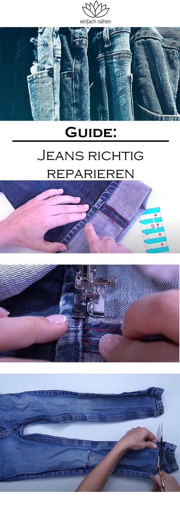 Jeans reparieren   einfach nähen lernen mit einfach nähen