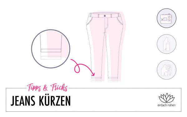 Jeans kürzen mit Originalsaum | einfach nähen lernen