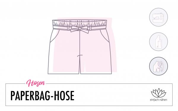 Paperbag-Hose aus normalem Hosenschnitt   einfach nähen lernen